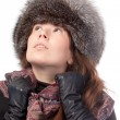 Elegant woman in winter outfit — Stock Photo