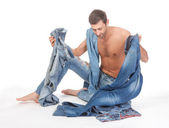 Man deciding what to wear — Stock Photo