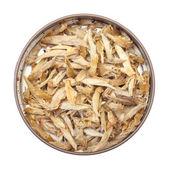 Chinese White Tea in Tin Jar — Stock Photo