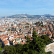 Panoramic aerial view on Marseille from mountain — Stock Photo