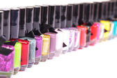 Group of bright nail polishes — Stock Photo