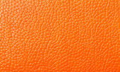 Orange Leather texture, backdrop — Stock fotografie