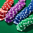 Colorful poker chips — Stock Photo