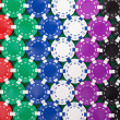 Stock Photo: Colorful poker chips