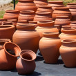 Ceramic pots in market — Stock Photo