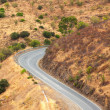 Stock Photo: Winding tarred road in countryside