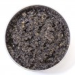 Stock Photo: Black caviar in metal can, top view