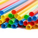 Colored Plastic Drinking Straws — Stock Photo #46136849