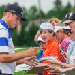 Foto Stock: Nick Watney signs autographs at 2013 US Open