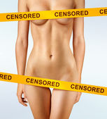 Censored — Stockfoto
