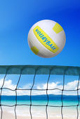 ビーチで晴れた日バレーボール — ストック写真