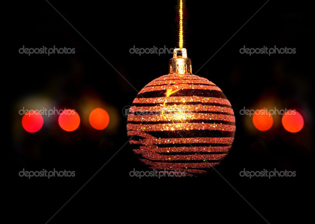 Christmas tree decorations balls baubles isolated on black background — Stock Photo #12878253