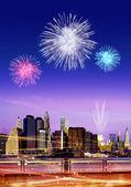 Firework over New York — Stock Photo