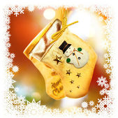 Christmas-tree decoration with socks — 图库照片
