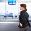 Business woman in airport ll — Stock Photo