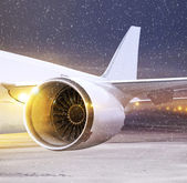 Part of plane at non-flying weather — Stock Photo