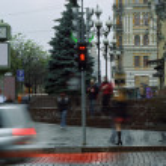 Crossroad on Bogdana Khmelnitskogo — Stock Photo