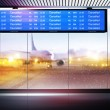 Cancellation of planes flights — Stock Photo