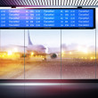 Cancellation of planes flights - Stock Photo