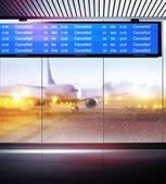 Annulation des vols d'avions — Photo