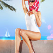 Woman in resort place — Stock Photo #27745871