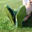 Stock Photo: Green sole of shoes l