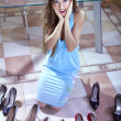 Consumer with shoes — Stock Photo #3323506