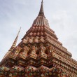 Buddhist temple gable at Thailand — Stok fotoğraf