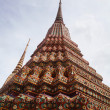 Buddhist temple gable at Thailand — Stockfoto