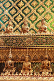 Golden temple gable in Thailand — Stock Photo