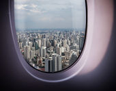 Beautiful city view from the window — Stock Photo