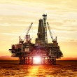 Постер, плакат: Gas production on the sea