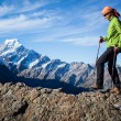 mountain hiking — Stock Photo
