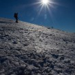 Stock Photo: Winter mountain climbing