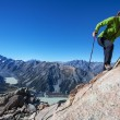 Climbing in the mountains — Stock Photo
