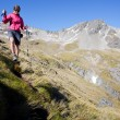 Mountain trekking — Stock Photo