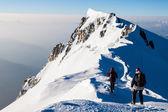 Alpine climbing — Stock Photo