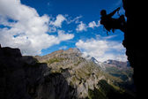 Summer mountain climbing — Stock Photo