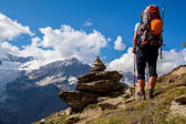 Alpine hiking — Stock Photo
