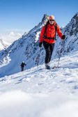 Winter mountaineering — Stock Photo