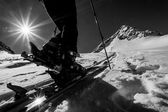 Skitouring - Freeriding — Stock Photo