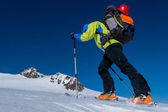 Skitouring Ascent — Stock Photo