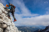 Mountain climbing — Stock Photo