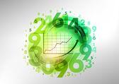 Gráfico verde — Vector de stock