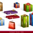 Stock Vector: Gifts isolated