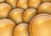 Orange circles — Stock Vector