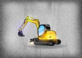 Excavator — Stock Vector