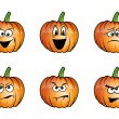 Stock Vector: Pumpkins