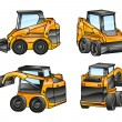 Stock Vector: Isolated excavators