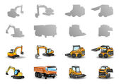 Construction vehicles — Stock Vector